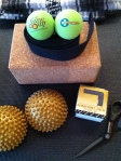 Yoga Tune Up® Therapy Balls, Foot Wakers, Yoga block and strap, Yoga mat, KinesioTex Tape