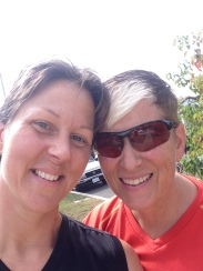 Exercise keeps Coach Kimmie & DrDawn happy!