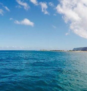 ocean from catamarand